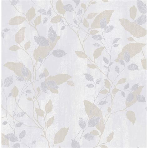 grey wallpaper with leaves vermeil leaf wallpaper grey wallpaper b m