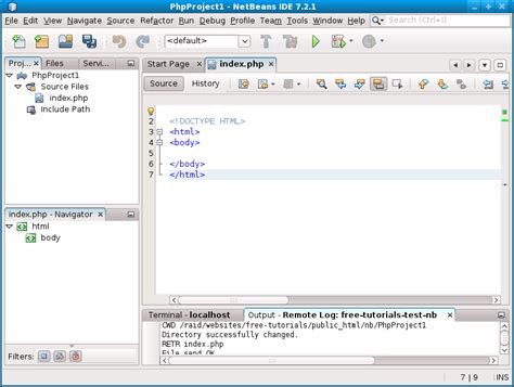 php tutorial using netbeans remote web server php using the netbeans ide free