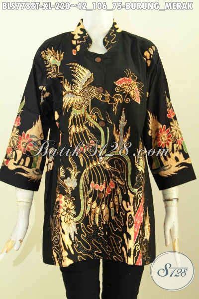 Blus Batik Merak baju batik kerja nan modis blus batik elegan motif burung