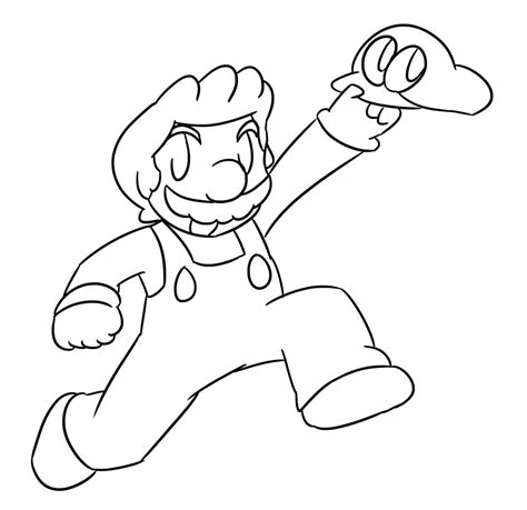 coloring pages mario odyssey super mario odyssey lineart by xero j on deviantart