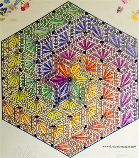how to color mandalas don t eat the paste hexagon mandala to color
