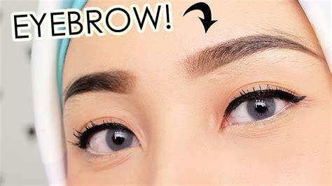 cara membuat alis menggunakan eyebrow eyebrow tutorial cara buat alis my eyebrow routine