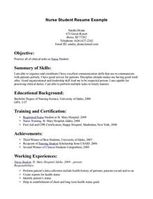 Student Nurse Resume Template Tips For Student Nurse Resume Writing Resume Sample