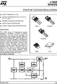 transistor l7805 l7805 datasheet positive voltage regulators