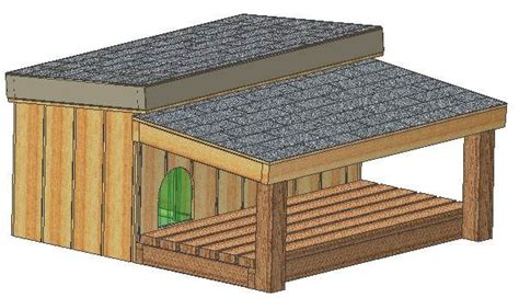 dog house covered porch covered porch dog house plan i like this idea because they can be in the sun or rain