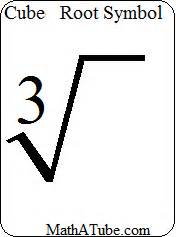 how do you write the cube root