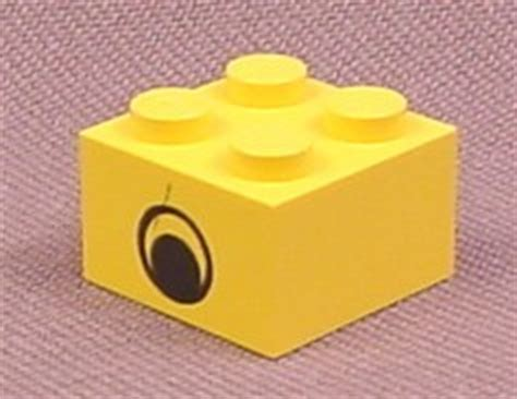 Set Part 2x2 Yellow lego 3003pe1 yellow 2x2 brick with eye patterns or sides parts with patterns rons rescued