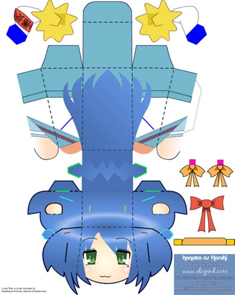 Papercraft Templates Anime - 11 best photos of lucky papercraft lucky