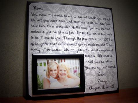 unique gifts for mom personalized mother of the bride wedding frame by