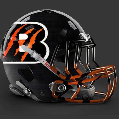 design football helmet logo cincinnati bengals alt helmet design art pinterest