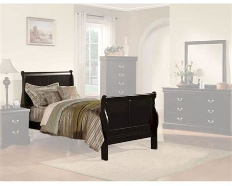 Louis Philippe Furniture by Acme Furniture Bed Louis Philippe In Black Ac19510tbed