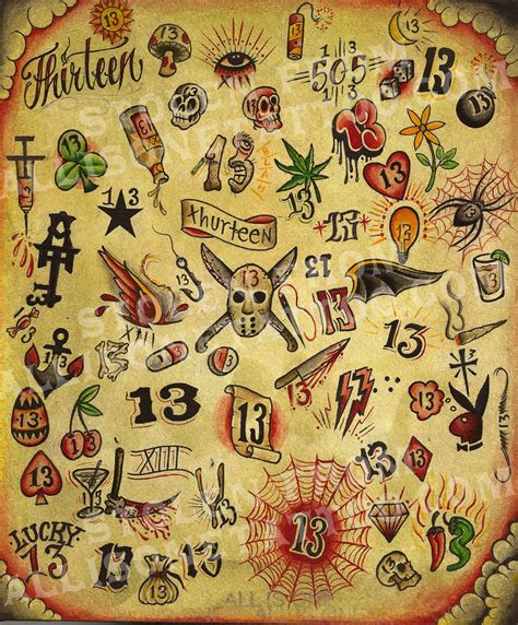 13 dollar tattoos on friday the 13th pin by nick ottinger on flash tatto future tattoos 13