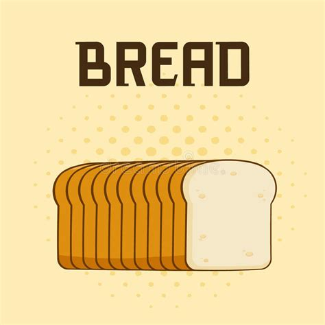 Toaster Pastry Cartoon Bread Loaf Poster Design With Text Stock