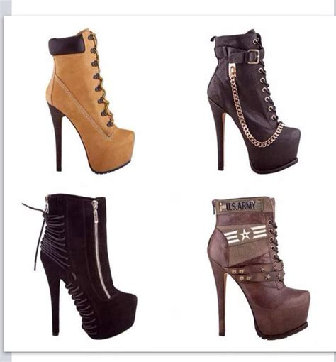 timberlands high heel boots shoes ankle boots heel high heels high heels boots