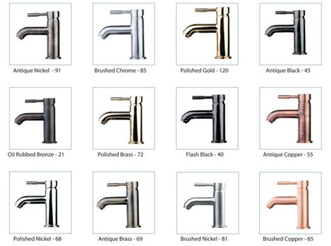 bathroom fixture finishes faucet finishes sles and how to s pinterest