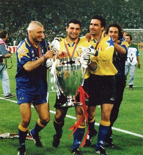 portiere peruzzi file juventus fc chions league 1995 96 ravanelli
