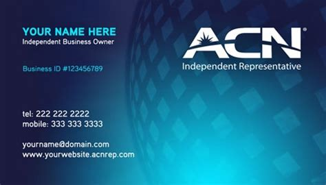 Acn Business Cards Templates by Acn Business Card Design 1