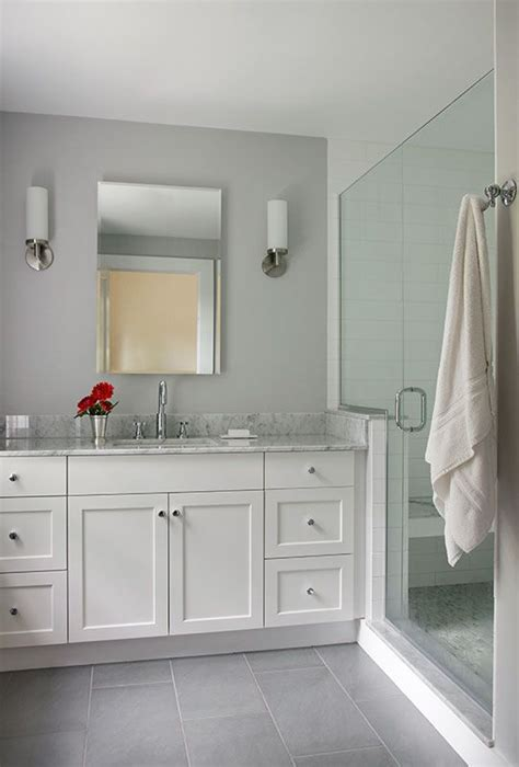 37 Light Grey Bathroom Floor Tiles Ideas And Pictures Light Grey Tile Bathroom