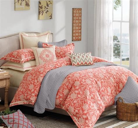 coral colored comforter set coral bedding sets queen spillo caves