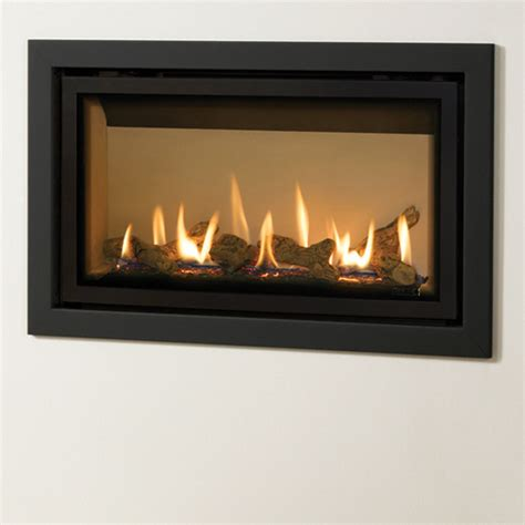 Shallow Gas Fireplace by Gazco Studio Slimline Profil Balanced Flue Gas