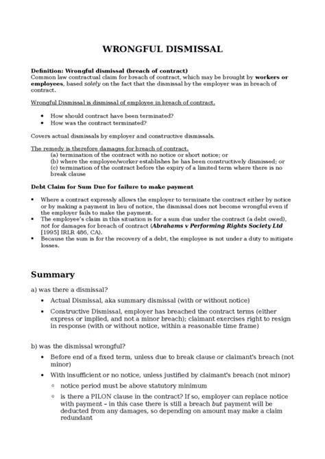 Exle Letter Of Appeal Against Unfair Dismissal Resignation Letter Format Involuntary Exle Constructive Dismissal Resignation Letter