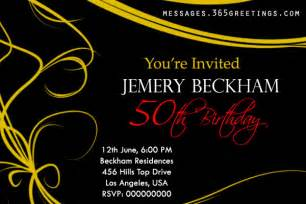 50th birthday invitations and 50th birthday invitation wording 365greetings