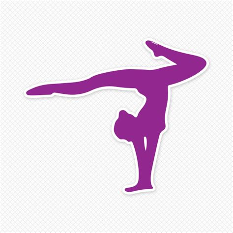 Bedroom Wall Quote Stickers purple gymnast handstand silhouette sticker genius
