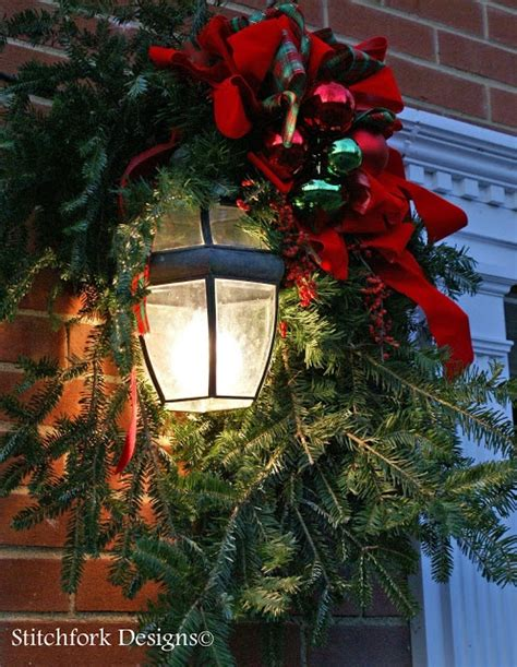 outdoor light swag christmas pinterest