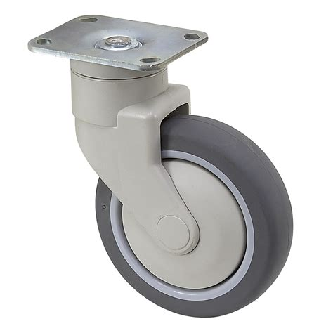 Roda 1 1 4 125 Casters Gepeng 1 Set 4 Pcs Promo T37 N0148 5 quot x 1 1 4 quot medcaster swivel plate caster pg05rpp125swtp01 plate casters casters wheels