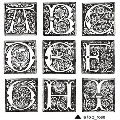 renaissance illuminated capitals initials letters vector