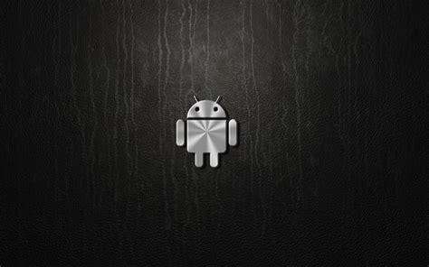 imagenes 4k android download wallpapers android 4k metal logo gray