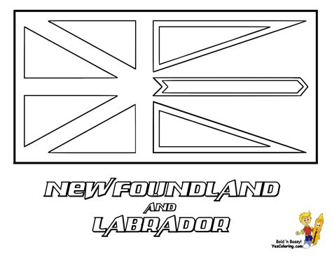 coloring pages of newfoundland striking flag printables of canada alberta yukon