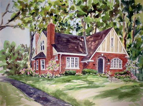 Painting Of House | jean vance artist house paintings commissions