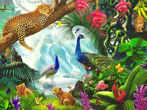Thomas And Friends Wall Mural 1024x768 lovely wild animals paradise desktop pc and mac