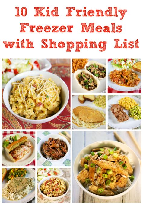10 kid friendly freezer meals with shopping list plain