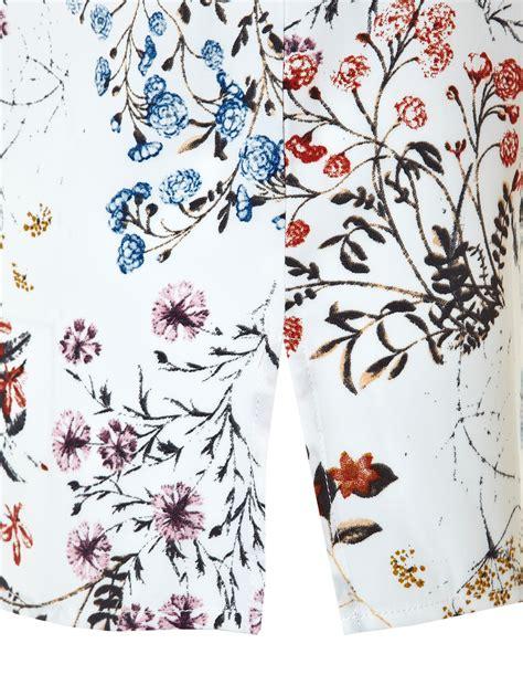 Floral Print V Neck Blouse floral print v neck blouse cleo