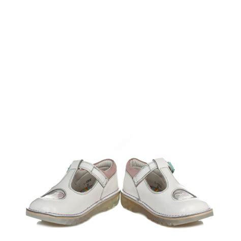 Sandal Casual Wanita Kickers Calista kickers white kick t bar leather shoes buckle casual sandals 113315 ebay