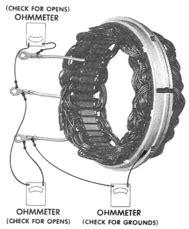 alternator diode stator rotor tester 10si 15si alternator repair manual stator and rectifier