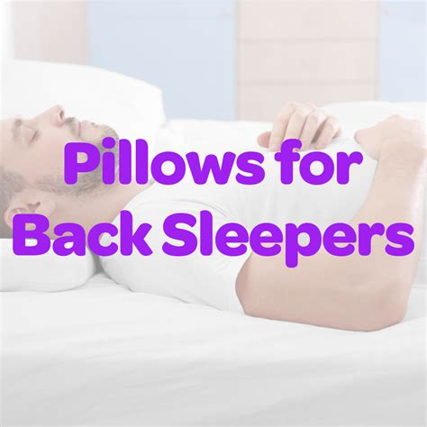 5 best pillows for back sleepers 2017 pillow picker 1