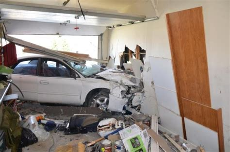 Car Crash Garage by Car Crash Car Crashes Into Garage