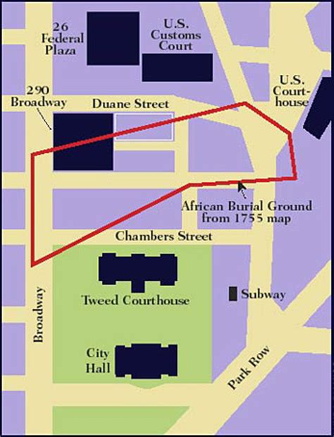 american burial grounds map controversy