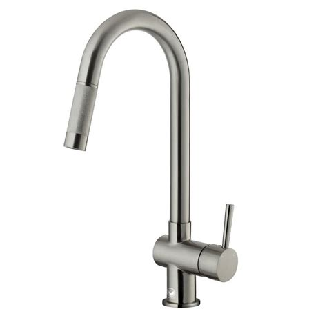 stainless steel pull out kitchen faucet vigo single handle pull out sprayer kitchen faucet in stainless steel vg02008st the home depot