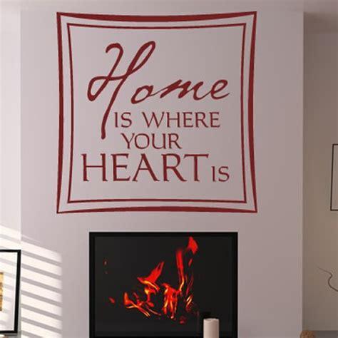 zuhause ist wo dein herz ist wandtattoo zuhause ist wo die liebe wohnt