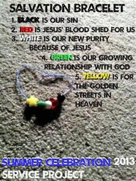 salvation bracelet color meaning salvation bracelet what the colors sunday school