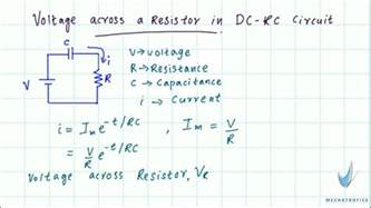 what is the voltage across the resistor and the capacitor at the moment the switch is closed voltage across a resistor in dc rc circuit