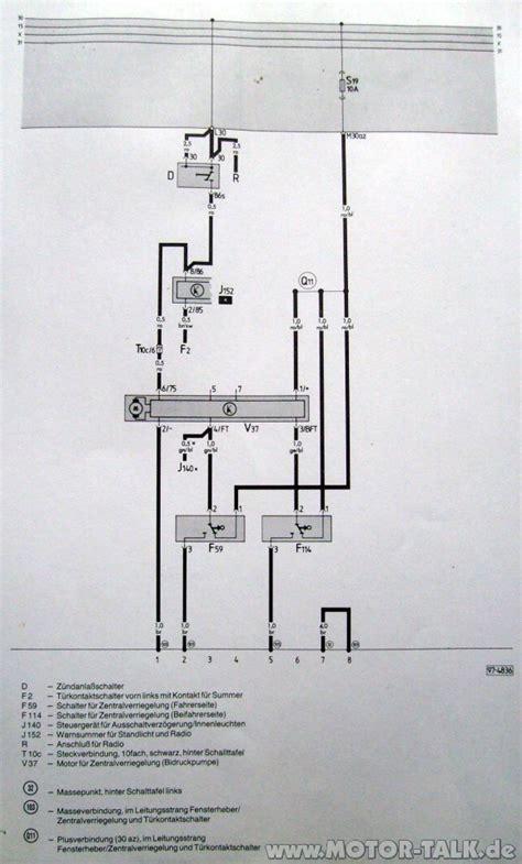 Schaltplan zv c3 : Funkzentralverriegelung Inca Pro 60 in Audi 100 Avant C3 einbauen : Audi 80