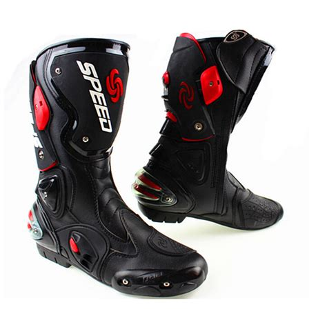 leather dirt bike boots brand motorcycle microfiber leather boots pro speed racing