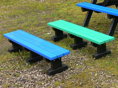 plastic benches uk junior 3 seater recycled plastic multicoloured tees bench no back trade