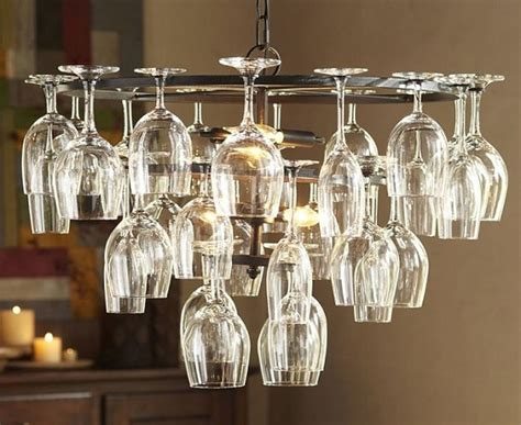 Diy Wine Glass Chandelier 15 Diy Living Room Chandeliers Ultimate Home Ideas