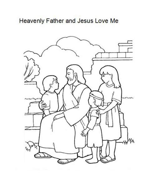 coloring pages precious moments jesus loves me heavenly father and jesus love me coloring page color